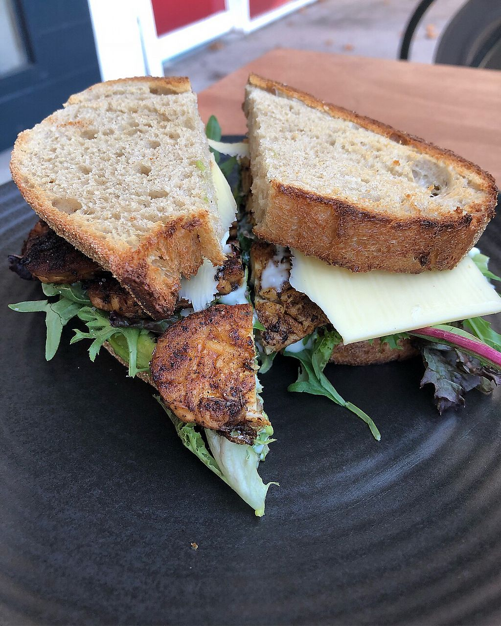 """Photo of One for the Crow  by <a href=""""/members/profile/ClaireMelanie"""">ClaireMelanie</a> <br/>Tempeh bacon, lettuce, cheese and avocado with sourdough  <br/> March 4, 2018  - <a href='/contact/abuse/image/112836/366490'>Report</a>"""