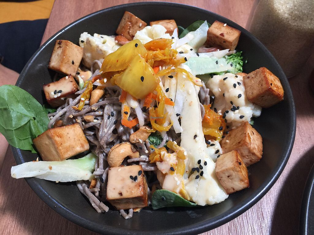 """Photo of One for the Crow  by <a href=""""/members/profile/Tiggy"""">Tiggy</a> <br/>Soba noodle bowl $16 - Tasty but veggie chunks too big <br/> March 5, 2018  - <a href='/contact/abuse/image/112836/367080'>Report</a>"""