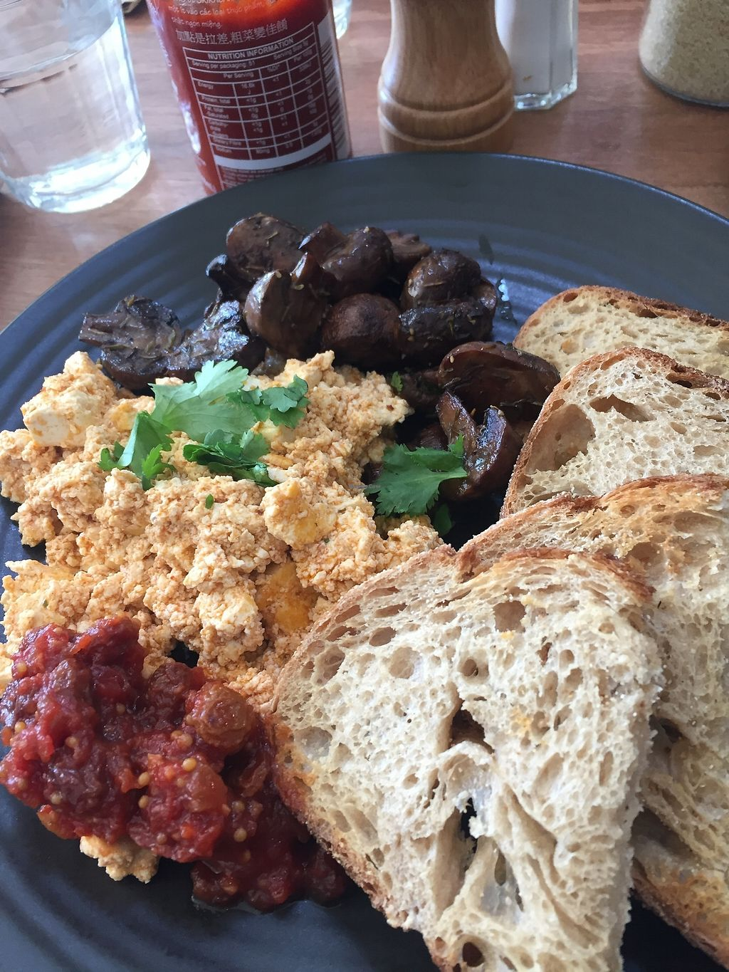 """Photo of One for the Crow  by <a href=""""/members/profile/Kittybiscuit"""">Kittybiscuit</a> <br/>Scrambled tofu with mushrooms <br/> March 12, 2018  - <a href='/contact/abuse/image/112836/369513'>Report</a>"""