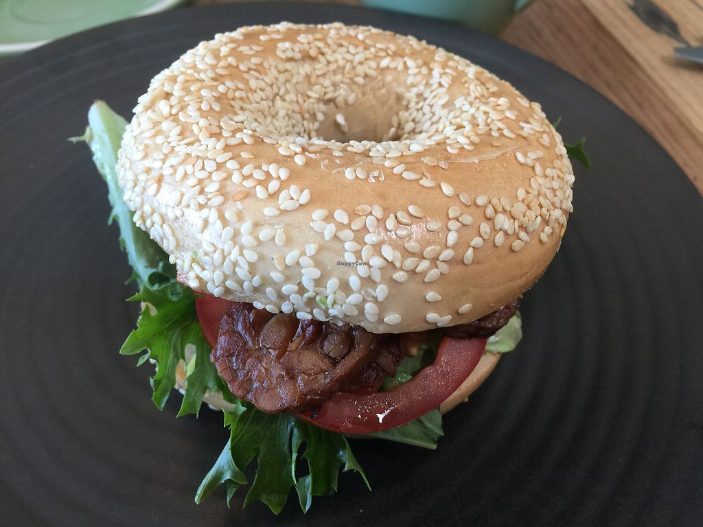 """Photo of One for the Crow  by <a href=""""/members/profile/Tiggy"""">Tiggy</a> <br/>BLT bagel with avocado $15 - Good but a bit pricey <br/> March 18, 2018  - <a href='/contact/abuse/image/112836/372245'>Report</a>"""