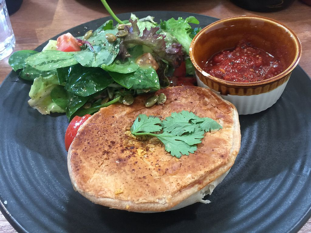"""Photo of One for the Crow  by <a href=""""/members/profile/Tiggy"""">Tiggy</a> <br/>Chilli con carne pie and salad $11 <br/> May 1, 2018  - <a href='/contact/abuse/image/112836/393332'>Report</a>"""