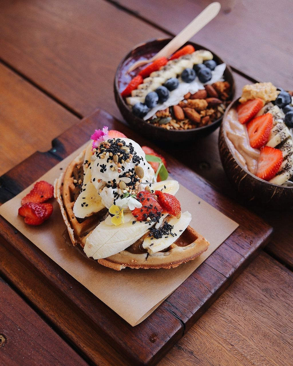 """Photo of Byron Bay General Store  by <a href=""""/members/profile/Byron_General_Store"""">Byron_General_Store</a> <br/>Vegan waffles and smoothie bowls. To die for <br/> March 1, 2018  - <a href='/contact/abuse/image/112858/365100'>Report</a>"""