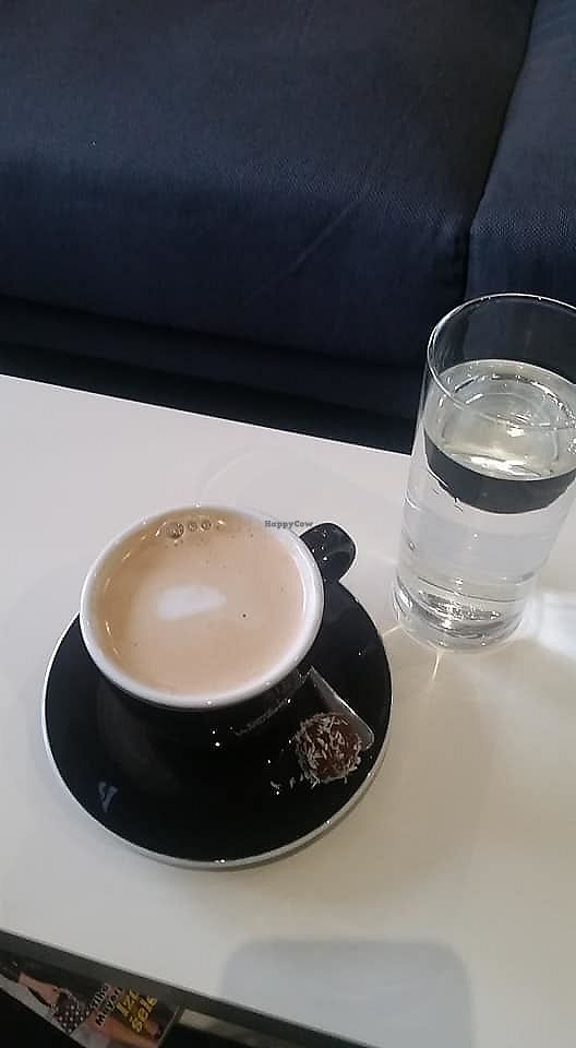 """Photo of Bar Metropola  by <a href=""""/members/profile/slovenianvegan"""">slovenianvegan</a> <br/>Coffee with rice mylk.  Photo by:  Nuša P. on Facebook <br/> February 24, 2018  - <a href='/contact/abuse/image/112871/363179'>Report</a>"""