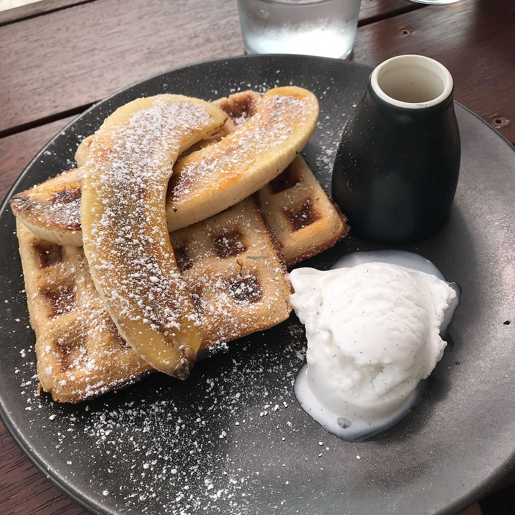 "Photo of Dicki's  by <a href=""/members/profile/AliciaOnion"">AliciaOnion</a> <br/>Buckwheat waffles with vanilla bean ice cream and caramelised banana <br/> April 1, 2018  - <a href='/contact/abuse/image/112875/379207'>Report</a>"