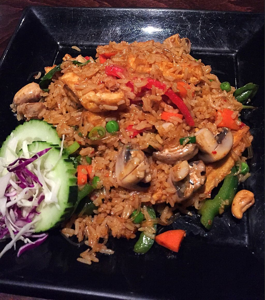 """Photo of Lime Leaf Thai  by <a href=""""/members/profile/veggiegal22"""">veggiegal22</a> <br/>Basil fried rice with tofu  <br/> February 25, 2018  - <a href='/contact/abuse/image/112922/363491'>Report</a>"""