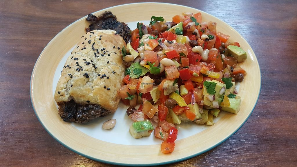 """Photo of Tuttis  by <a href=""""/members/profile/VeganAnnaS"""">VeganAnnaS</a> <br/>Savoury vegan pastry with salad <br/> February 24, 2018  - <a href='/contact/abuse/image/112931/363130'>Report</a>"""