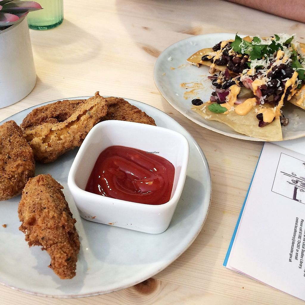 """Photo of The Greenhouse Eatery  by <a href=""""/members/profile/LaurenMartin"""">LaurenMartin</a> <br/>TGH - Chk'wheat tenders and nachos <br/> April 21, 2018  - <a href='/contact/abuse/image/112970/389098'>Report</a>"""