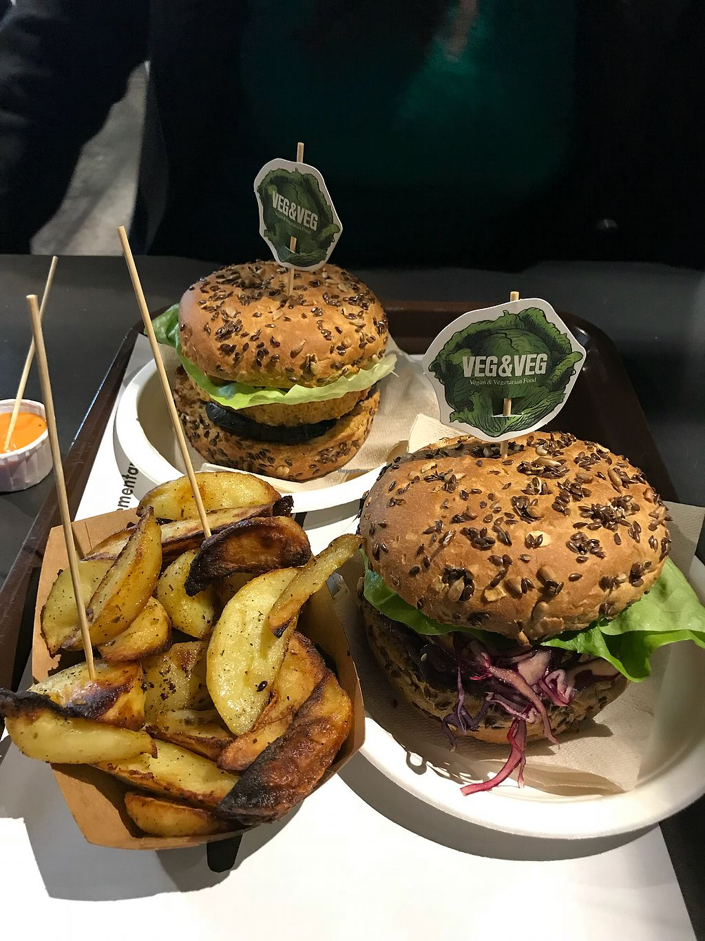 "Photo of Vegetariano & Vegano  by <a href=""/members/profile/TDHill"">TDHill</a> <br/>Best vegan burgers ever! <br/> February 26, 2018  - <a href='/contact/abuse/image/112977/363846'>Report</a>"
