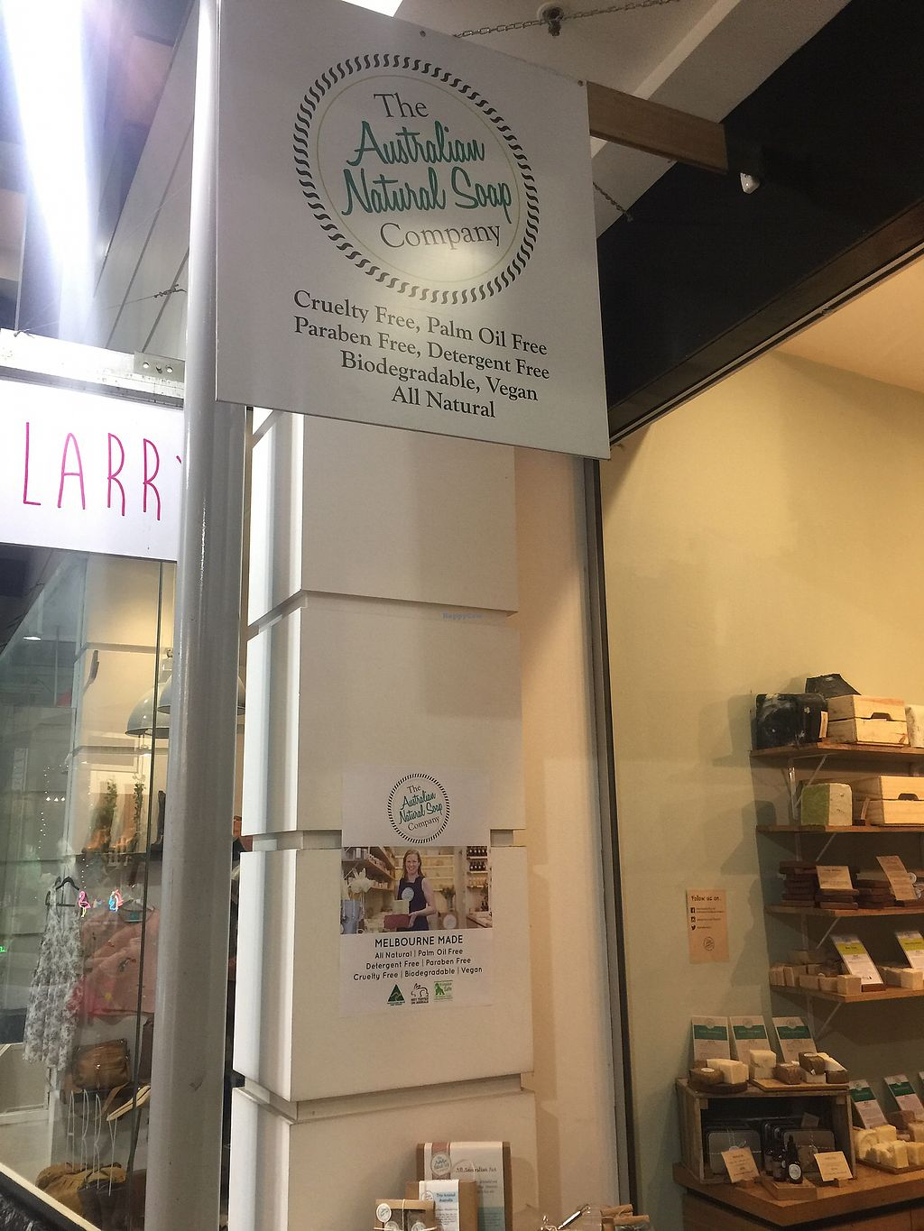 """Photo of Australian Natural Soap Company  by <a href=""""/members/profile/Tiggy"""">Tiggy</a> <br/>Shop front  <br/> February 25, 2018  - <a href='/contact/abuse/image/112995/363785'>Report</a>"""