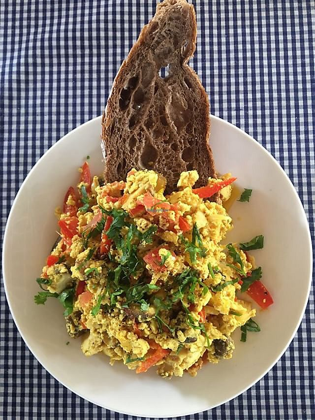 """Photo of The Fisherman Vegan Restaurant   by <a href=""""/members/profile/cupcakeluu"""">cupcakeluu</a> <br/>Tofu scramble  <br/> March 1, 2018  - <a href='/contact/abuse/image/113002/365098'>Report</a>"""