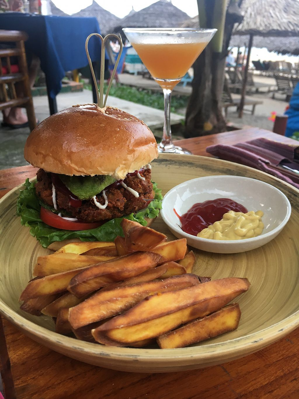 """Photo of The Fisherman Vegan Restaurant   by <a href=""""/members/profile/Tisa93"""">Tisa93</a> <br/>Honestly the best burger in the world  <br/> May 5, 2018  - <a href='/contact/abuse/image/113002/395258'>Report</a>"""