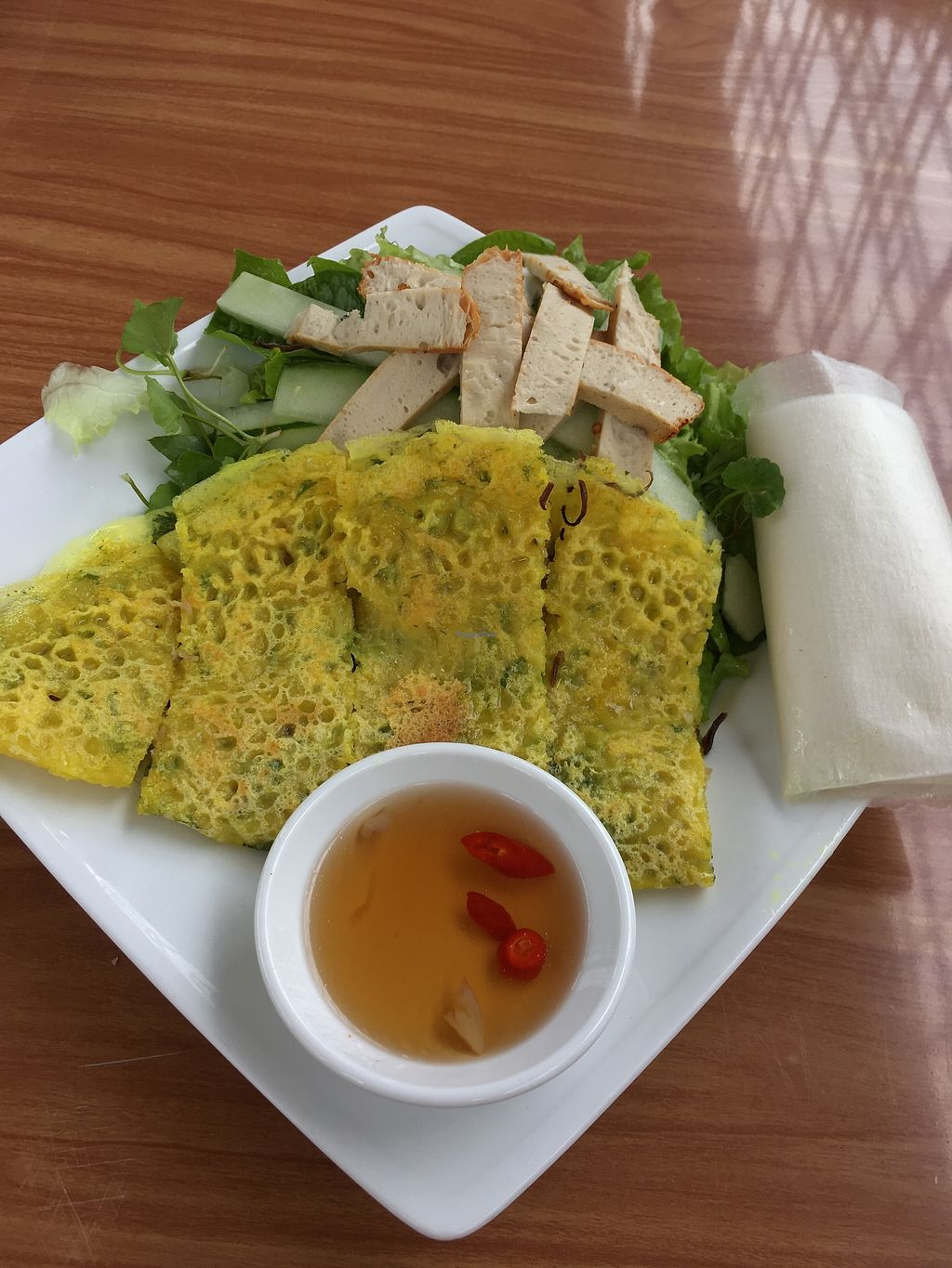 """Photo of Chay  by <a href=""""/members/profile/BellaAzi"""">BellaAzi</a> <br/>Rice pancake with filling fresh salad with seitan and rice paper to make ur own spring roll  <br/> February 26, 2018  - <a href='/contact/abuse/image/113006/364002'>Report</a>"""