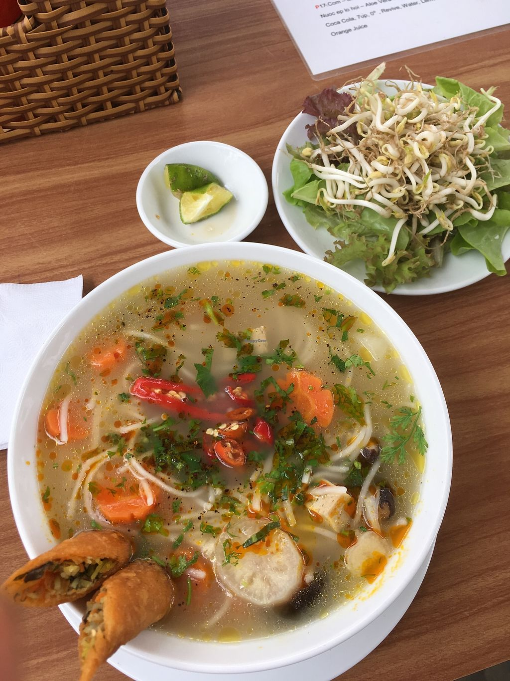 """Photo of Chay  by <a href=""""/members/profile/BellaAzi"""">BellaAzi</a> <br/>Soup with rice noodle nd spring rolls - paradise in my mouth <br/> March 1, 2018  - <a href='/contact/abuse/image/113006/365257'>Report</a>"""