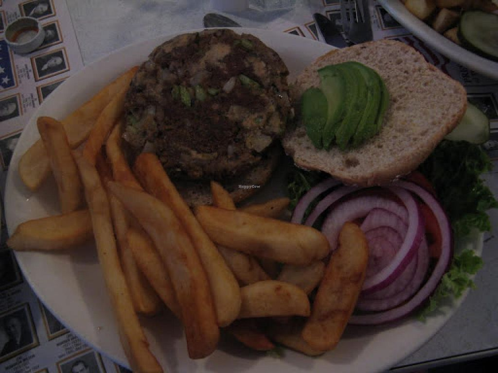 """Photo of The Blue Plate Diner  by <a href=""""/members/profile/Meggie%20and%20Ben"""">Meggie and Ben</a> <br/>House-made vegan burger <br/> January 4, 2015  - <a href='/contact/abuse/image/11300/89482'>Report</a>"""