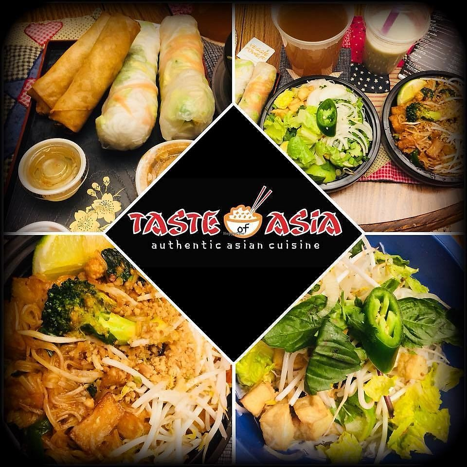 """Photo of Taste of Asia  by <a href=""""/members/profile/BeccaBochenek"""">BeccaBochenek</a> <br/>Vegan Pho and Pad Thai, spring rolls and vegan """"egg"""" rolls, Boba Tea with Coconut milk. Fresh and tasty. Great customer service.  <br/> February 26, 2018  - <a href='/contact/abuse/image/113043/364269'>Report</a>"""