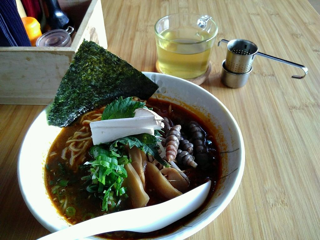 "Photo of Sanju Ramen  by <a href=""/members/profile/EmmyVD"">EmmyVD</a> <br/>delicious vegan mushroom ramen <br/> February 26, 2018  - <a href='/contact/abuse/image/113050/364045'>Report</a>"