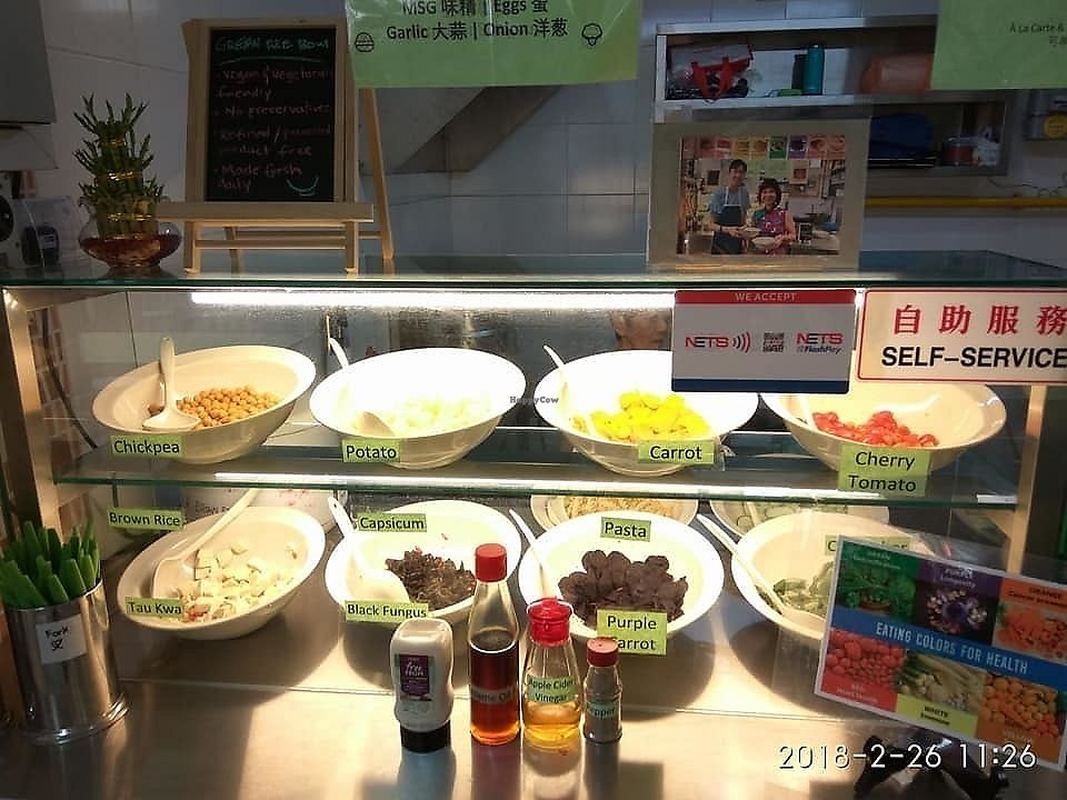 "Photo of Green Rice Bowl Stall  by <a href=""/members/profile/CherylQuincy"">CherylQuincy</a> <br/>Selections (image from Facebook page) <br/> February 27, 2018  - <a href='/contact/abuse/image/113076/364522'>Report</a>"