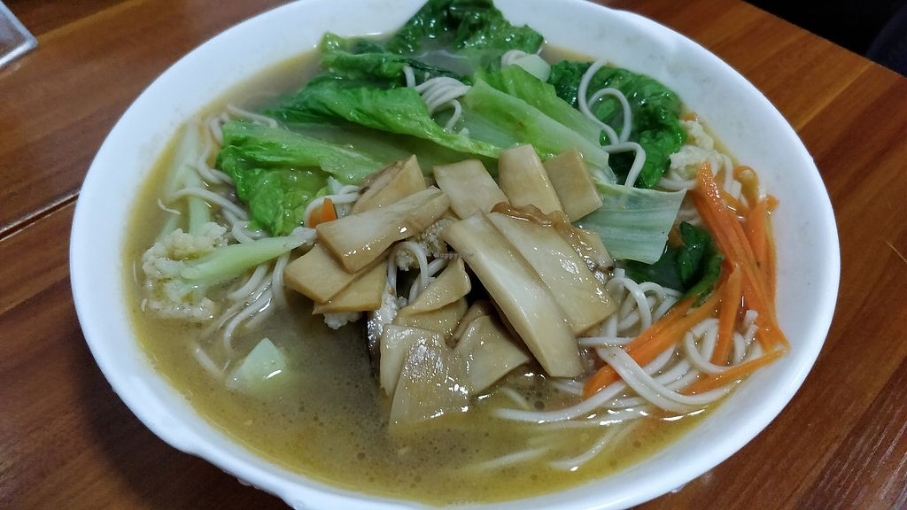 "Photo of Wu You You Su Dou Fang  by <a href=""/members/profile/ultm8"">ultm8</a> <br/>Vegetables with noodles in broth <br/> April 15, 2018  - <a href='/contact/abuse/image/113082/386090'>Report</a>"