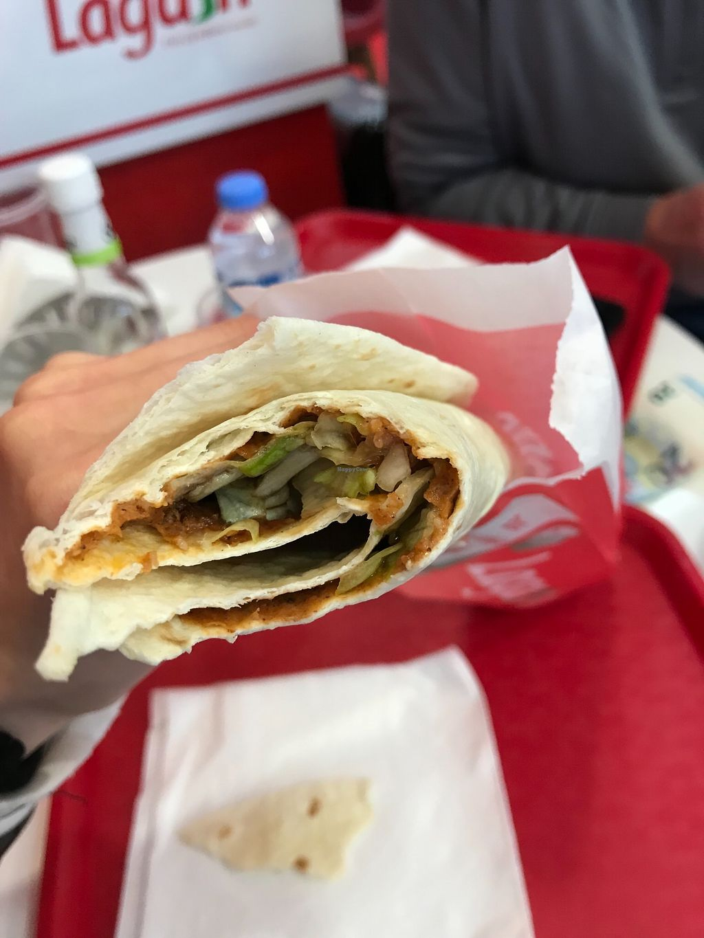 """Photo of Lagash - Laeken  by <a href=""""/members/profile/madisonehaley"""">madisonehaley</a> <br/>cigköfte wrap!! comes with lettuce, tomato, pickles if you desire, pomegranate juice, and lemon juice <br/> March 28, 2018  - <a href='/contact/abuse/image/113115/377394'>Report</a>"""