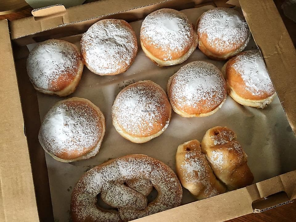 "Photo of Pekarna in Slaščičarna Sameja  by <a href=""/members/profile/slovenianvegan"">slovenianvegan</a> <br/>Vegan doughnuts, croissants.
