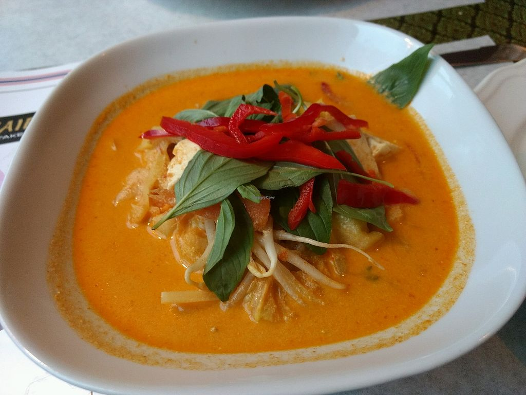 "Photo of Muei's ThaiFood  by <a href=""/members/profile/darkrabbit"">darkrabbit</a> <br/>Tofu with red curry and basilikum <br/> May 1, 2018  - <a href='/contact/abuse/image/113182/393411'>Report</a>"