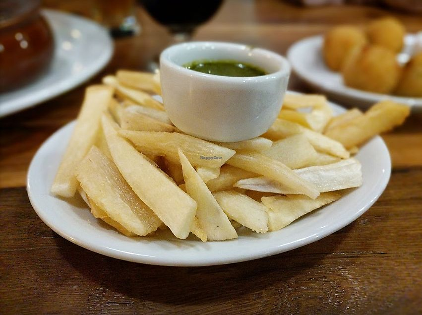 """Photo of Paulista Brazilian Kitchen and Taproom  by <a href=""""/members/profile/MelodyVeganJoy"""">MelodyVeganJoy</a> <br/>fries <br/> February 28, 2018  - <a href='/contact/abuse/image/113225/365081'>Report</a>"""