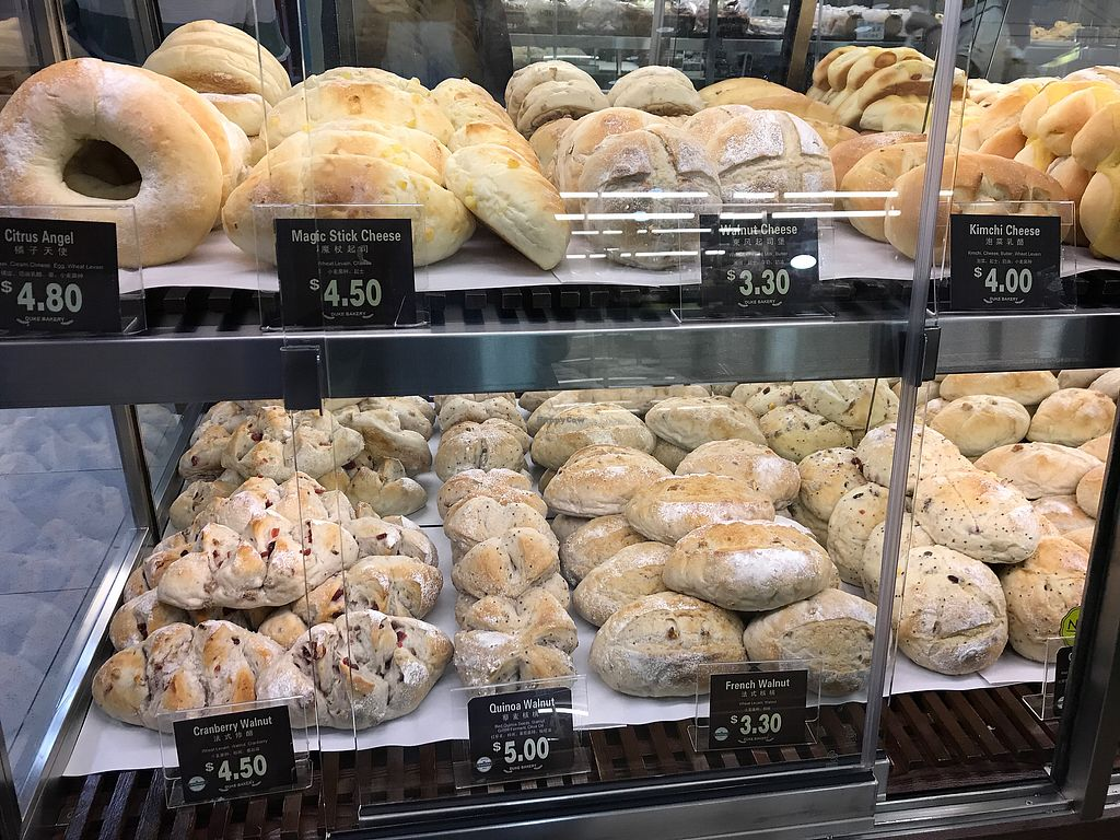 "Photo of Duke Bakery - United Square  by <a href=""/members/profile/Sweetveganneko"">Sweetveganneko</a> <br/>Vegan selection labelled green <br/> March 18, 2018  - <a href='/contact/abuse/image/113229/372216'>Report</a>"