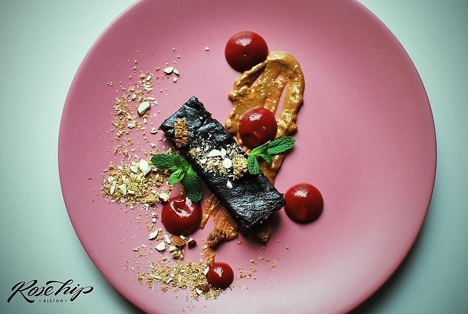 """Photo of RoseHip Bistro  by <a href=""""/members/profile/and42"""">and42</a> <br/>Chocolate date brownie with strawberry jam <br/> March 19, 2018  - <a href='/contact/abuse/image/113248/373111'>Report</a>"""