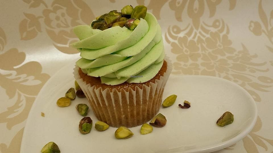 "Photo of Heavenly Bakery  by <a href=""/members/profile/heavenlybakery"">heavenlybakery</a> <br/>Vegan pistachio cupcake and can be made in to gluten free <br/> April 12, 2018  - <a href='/contact/abuse/image/113305/384543'>Report</a>"
