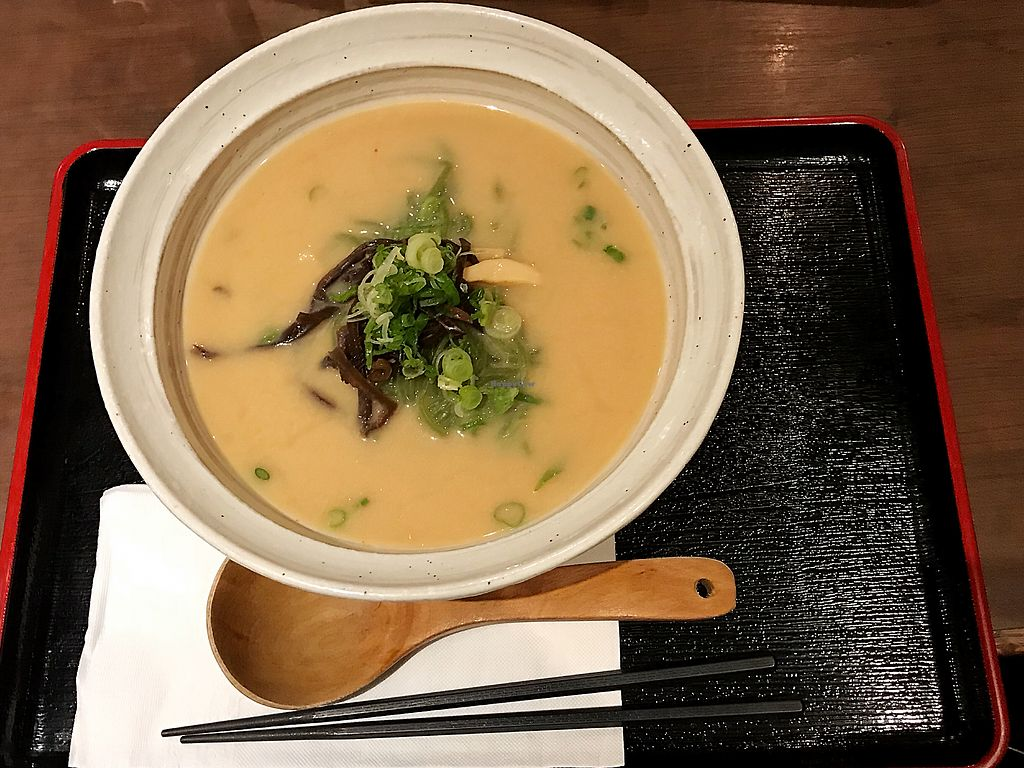 """Photo of Ramen Isshin  by <a href=""""/members/profile/Dimanta"""">Dimanta</a> <br/>Vegan Miso Ramen with kale noodles <br/> March 12, 2018  - <a href='/contact/abuse/image/113346/369560'>Report</a>"""