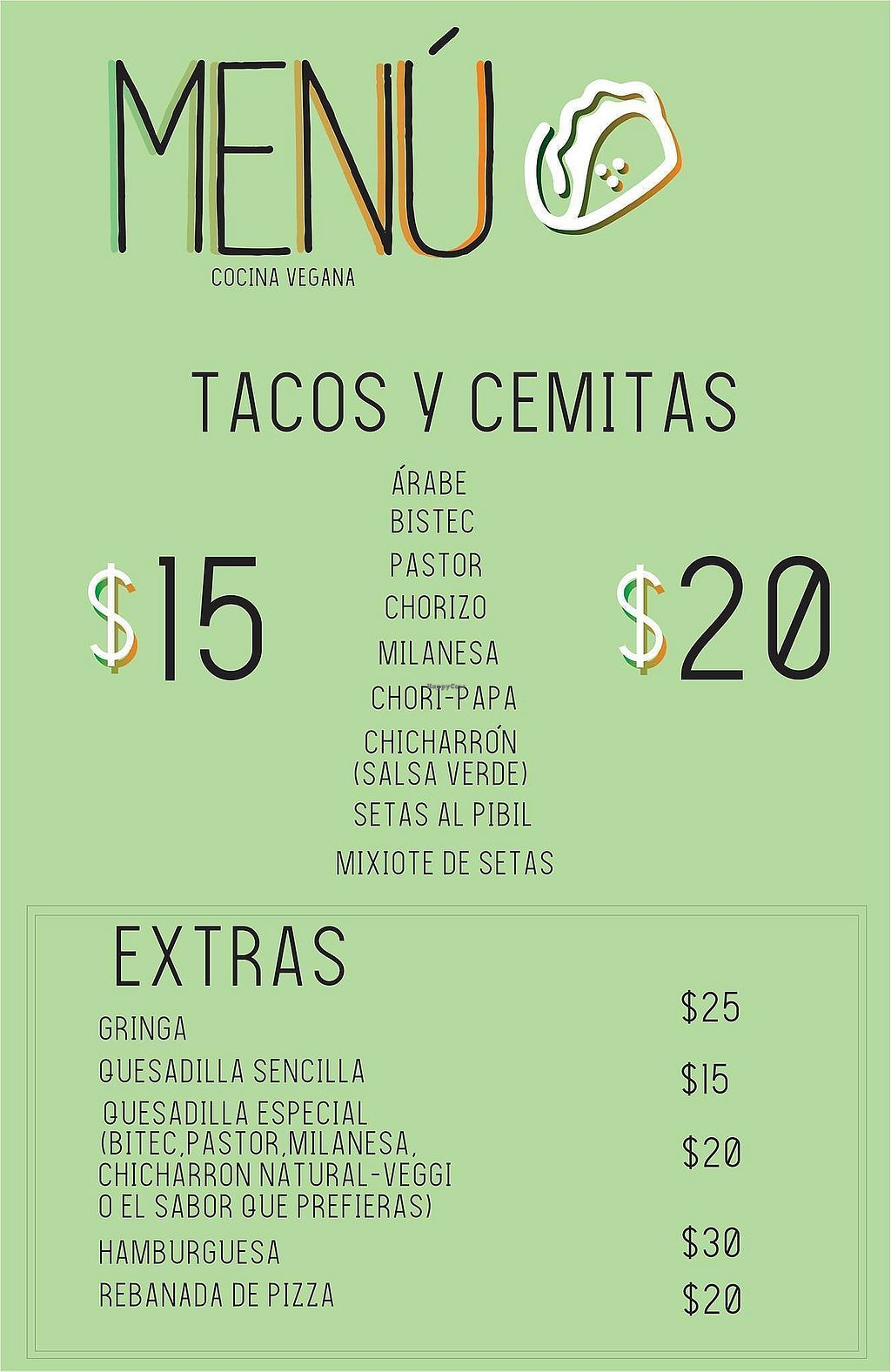 """Photo of Taco Station  by <a href=""""/members/profile/Caroly"""">Caroly</a> <br/>Menue <br/> March 1, 2018  - <a href='/contact/abuse/image/113356/365409'>Report</a>"""