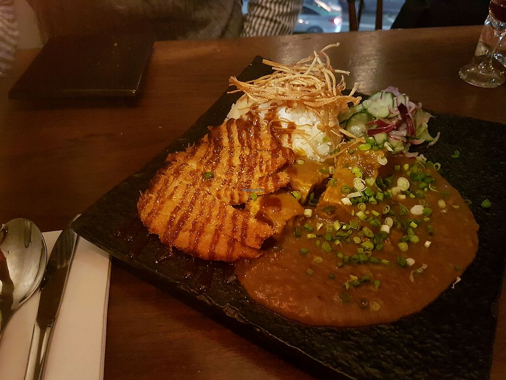 """Photo of Monk's Butcher  by <a href=""""/members/profile/Sunny%E2%98%86"""">Sunny☆</a> <br/>super yummy vegan katsu curry  <br/> April 22, 2018  - <a href='/contact/abuse/image/113401/389311'>Report</a>"""
