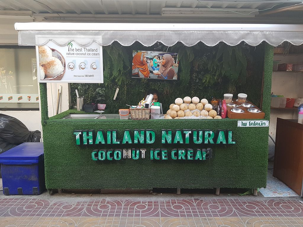 """Photo of Thailand Natural Coconut Ice Cream  by <a href=""""/members/profile/vegatleticas"""">vegatleticas</a> <br/>Stall Front <br/> March 2, 2018  - <a href='/contact/abuse/image/113406/365761'>Report</a>"""