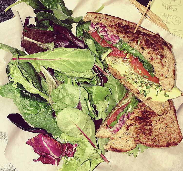 """Photo of The Earth Cafe and Deli  by <a href=""""/members/profile/Tabgreenvegan"""">Tabgreenvegan</a> <br/>Vegan BLT <br/> March 28, 2018  - <a href='/contact/abuse/image/11343/377510'>Report</a>"""