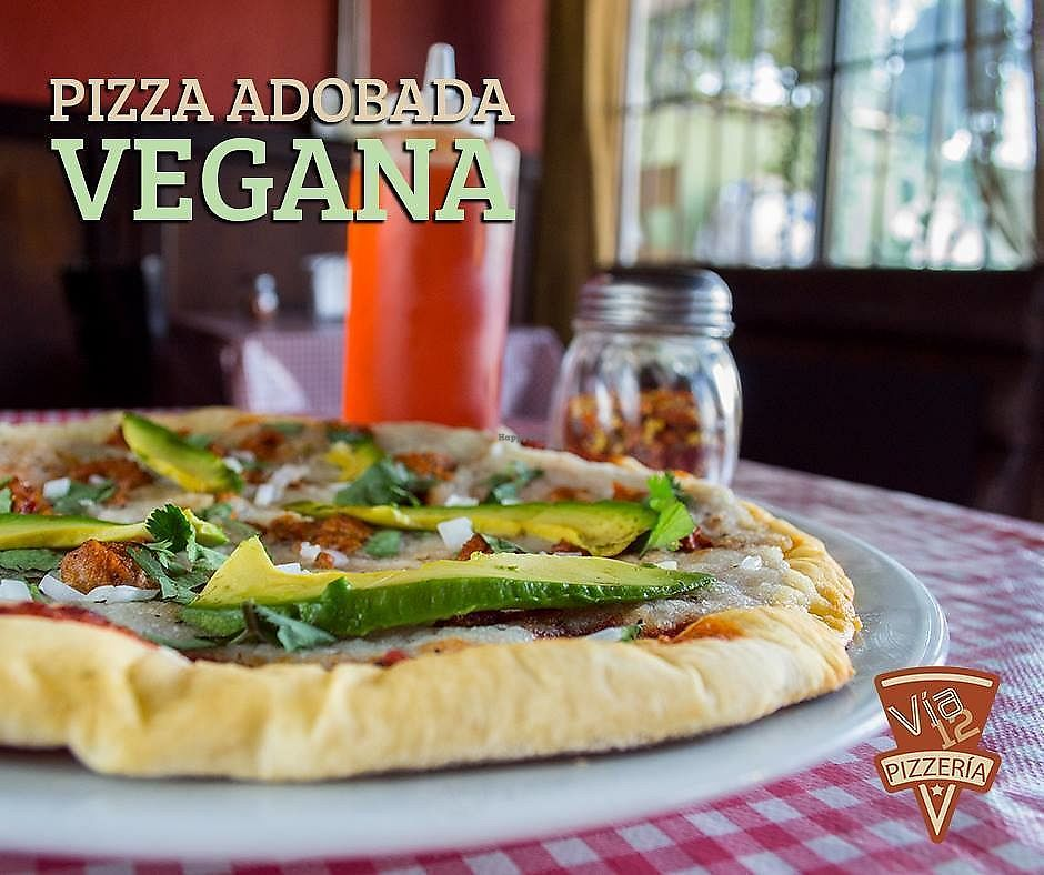 "Photo of Via 12 Pizzeria  by <a href=""/members/profile/AnaZamora"">AnaZamora</a> <br/>Pizza adobada vegana <br/> March 3, 2018  - <a href='/contact/abuse/image/113453/366301'>Report</a>"