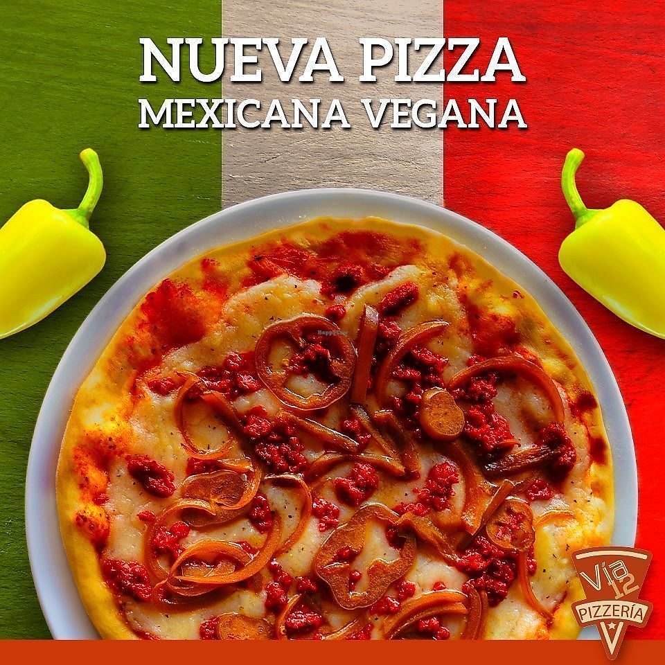"""Photo of Via 12 Pizzeria  by <a href=""""/members/profile/AnaZamora"""">AnaZamora</a> <br/>pizza mexicana con queso de papa <br/> March 3, 2018  - <a href='/contact/abuse/image/113453/366304'>Report</a>"""