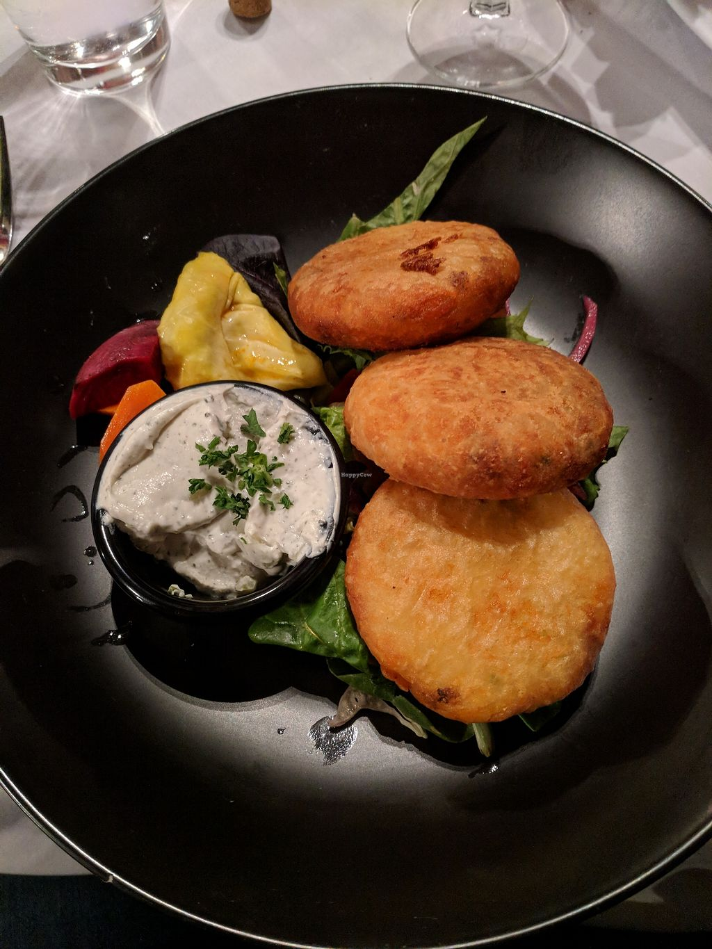 """Photo of Soro's Mediterranean Grill  by <a href=""""/members/profile/greenapplelover7"""">greenapplelover7</a> <br/>Potato chop appetizer <br/> March 2, 2018  - <a href='/contact/abuse/image/113456/365645'>Report</a>"""