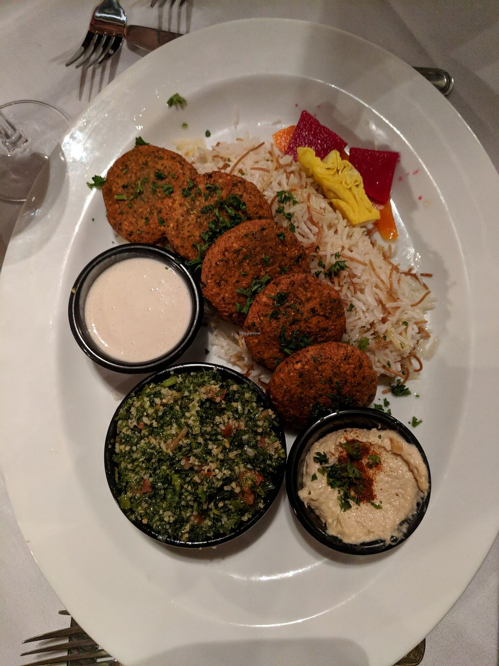 """Photo of Soro's Mediterranean Grill  by <a href=""""/members/profile/greenapplelover7"""">greenapplelover7</a> <br/>falafel plate <br/> March 2, 2018  - <a href='/contact/abuse/image/113456/365647'>Report</a>"""