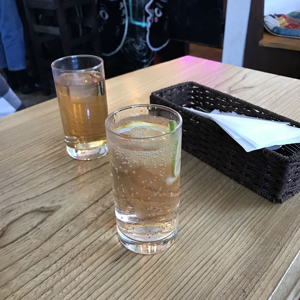 """Photo of Penke Bar & Bistro  by <a href=""""/members/profile/AliciaOnion"""">AliciaOnion</a> <br/>Drinks with no straws...didn't even have to ask <br/> March 2, 2018  - <a href='/contact/abuse/image/113457/365665'>Report</a>"""