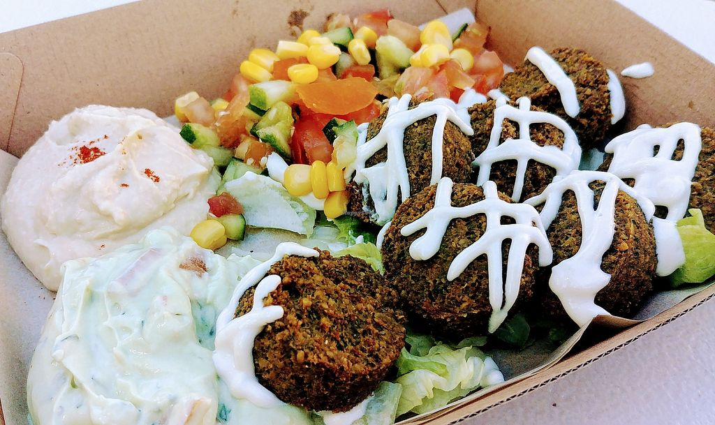 "Photo of Yalla Falafel  by <a href=""/members/profile/karlaess"">karlaess</a> <br/>Super fuel salad <br/> March 3, 2018  - <a href='/contact/abuse/image/113477/365982'>Report</a>"