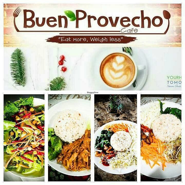 """Photo of Buen Provecho Cafe  by <a href=""""/members/profile/snrhealth"""">snrhealth</a> <br/>Vegan Restaurant in Cagayan de Oro offering simple, affordable and nutritious food <br/> March 3, 2018  - <a href='/contact/abuse/image/113504/366339'>Report</a>"""