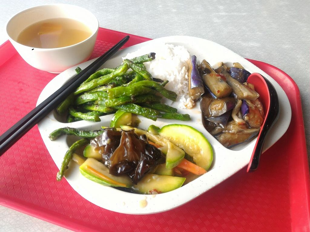 """Photo of gohappy veggie  by <a href=""""/members/profile/ouikouik"""">ouikouik</a> <br/>hkd37 meal for soup, rice and three out of a variety of dishes <br/> September 5, 2015  - <a href='/contact/abuse/image/11351/116483'>Report</a>"""