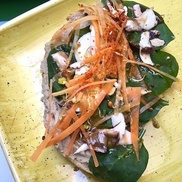 """Photo of El Tropic  by <a href=""""/members/profile/aami"""">aami</a> <br/>hummus toast with spinaches, carrots, sprouts and white mushrooms <br/> March 3, 2018  - <a href='/contact/abuse/image/113536/366152'>Report</a>"""