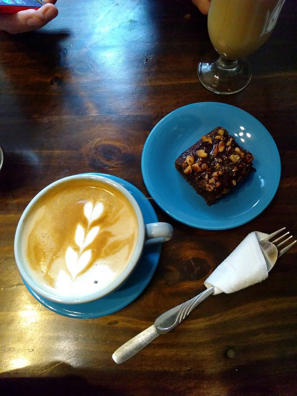 """Photo of Cafe de Nucallacta  by <a href=""""/members/profile/emzie1983"""">emzie1983</a> <br/>Almond milk latte and banana choc peanut brownie <br/> March 10, 2018  - <a href='/contact/abuse/image/113630/368692'>Report</a>"""
