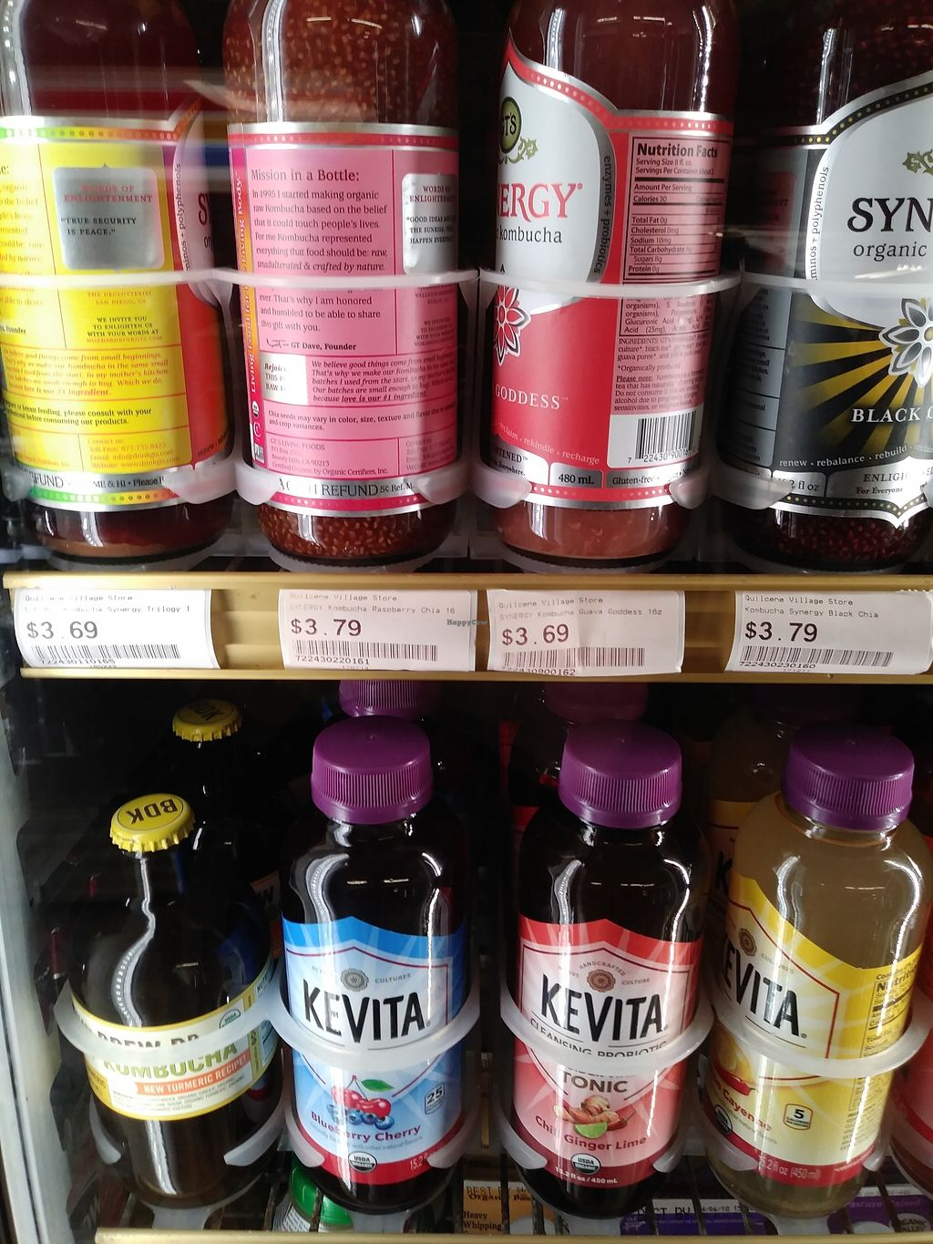 """Photo of Quilcene Village Store  by <a href=""""/members/profile/Cpronovost"""">Cpronovost</a> <br/>I a terrible photographer, but there are tons of Kombucha options <br/> March 7, 2018  - <a href='/contact/abuse/image/113632/367668'>Report</a>"""