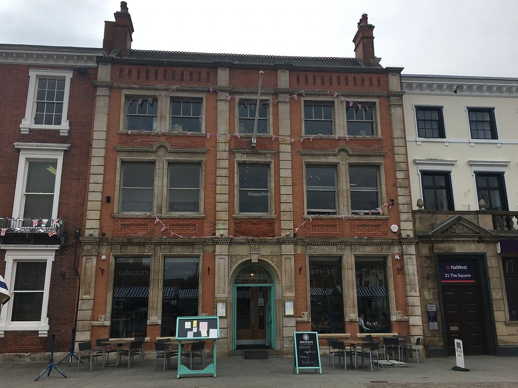 """Photo of Spencer's On The Square  by <a href=""""/members/profile/Veganbloke"""">Veganbloke</a> <br/>Spencer's on the Square <br/> April 21, 2018  - <a href='/contact/abuse/image/113639/389189'>Report</a>"""