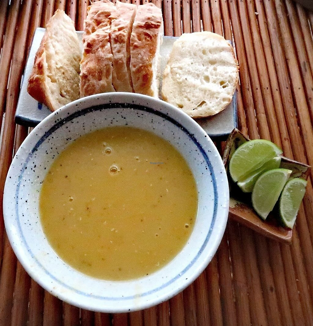 """Photo of Zuzu  by <a href=""""/members/profile/galco60"""">galco60</a> <br/> Vegan Red lentils soup with vegan bread <br/> March 6, 2018  - <a href='/contact/abuse/image/113671/367334'>Report</a>"""