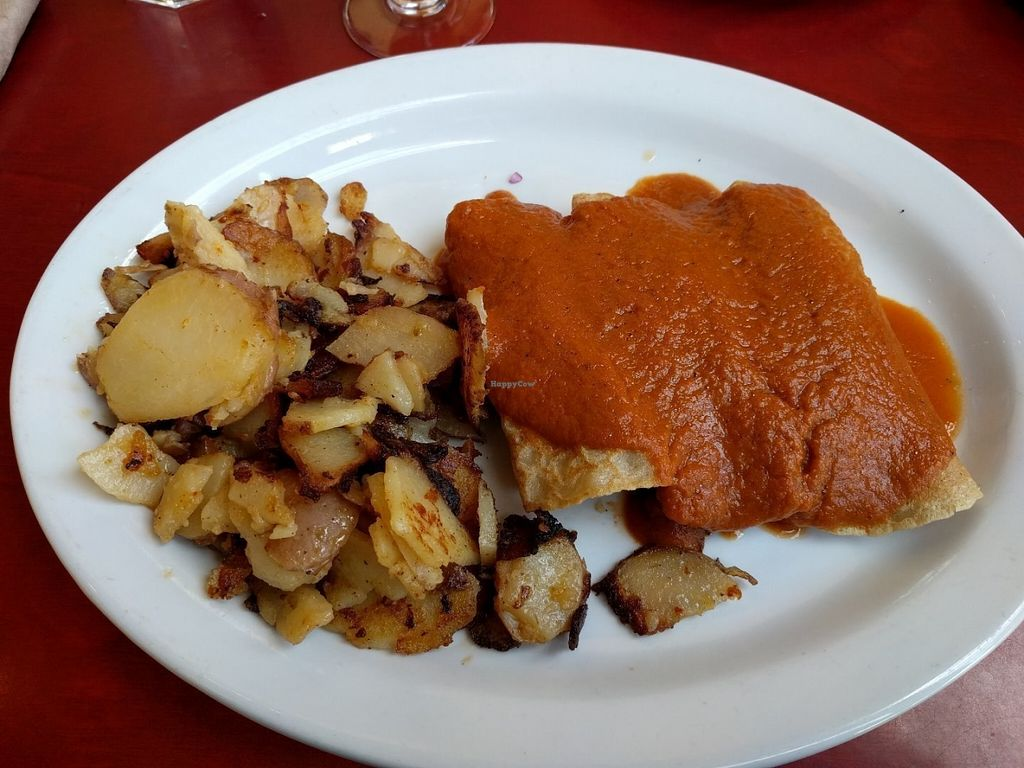 "Photo of CLOSED: Herbivore - Berkeley  by <a href=""/members/profile/Sonja%20and%20Dirk"">Sonja and Dirk</a> <br/>savory crepe with red pepper sauce <br/> July 27, 2016  - <a href='/contact/abuse/image/11367/162545'>Report</a>"
