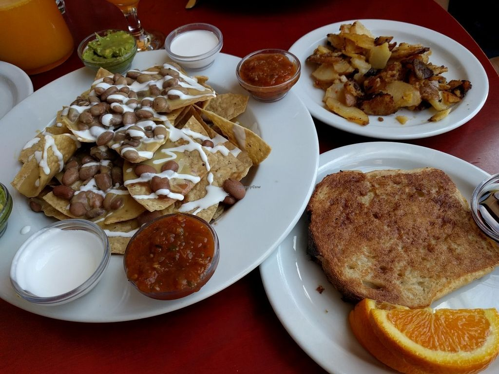 "Photo of CLOSED: Herbivore - Berkeley  by <a href=""/members/profile/Sonja%20and%20Dirk"">Sonja and Dirk</a> <br/>nachos and French toast <br/> July 27, 2016  - <a href='/contact/abuse/image/11367/162547'>Report</a>"