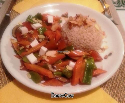 "Photo of El Restaurante Vegetariano - Tribunal  by <a href=""/members/profile/Fer"">Fer</a> <br/>Rice with vegetables <br/> January 27, 2013  - <a href='/contact/abuse/image/1136/43405'>Report</a>"